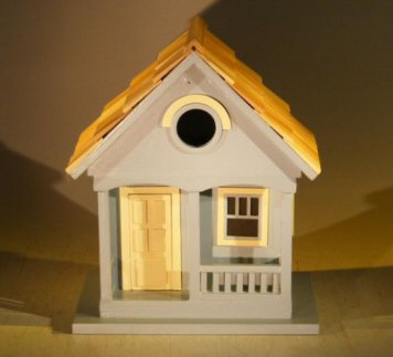 Image: Architectural Birdhouse/Feeder - Yellow (West Coast  Dweller)