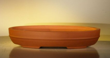 "Ceramic Bonsai Pot - Oval 14.0""x9.0""x2.75"""