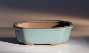 "Ceramic Bonsai Pot - Rectangle 7.0"" x 5.5"" x 2.5"""