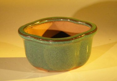 "Ceramic Bonsai Pot - Oval 5.0"" x 4.25"" x 2.75"""