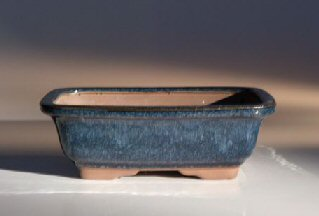 "Ceramic Bonsai Pot - Rectangle 7.5"" x 5.5"" x 2.5"""
