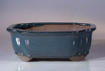 "Ceramic Bonsai Pot - Rectangle 8.0"" x 6.5"" x 3.0"""