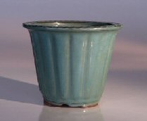 "Ceramic Bonsai Pot - Round Cascade 5.75"" x 4.75"" Tall"
