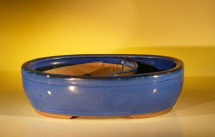 Image: Land/Water Ceramic Bonsai Pot 11.25 x 9.5 x 3.0
