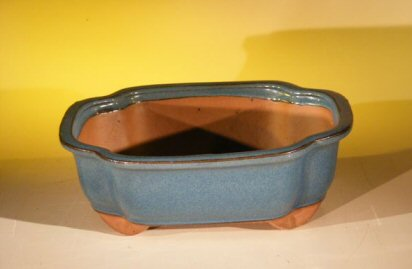 "Ceramic Bonsai Pot - Oval 10.0"" x 8.0"" x 3.5"""