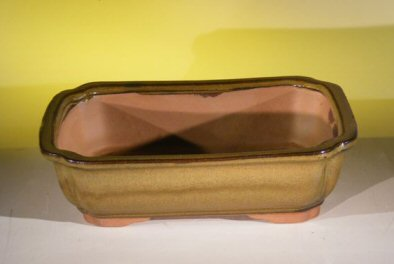 Image: Ceramic Bonsai Pot - Rectangle 10 x 8.0 x 3.0