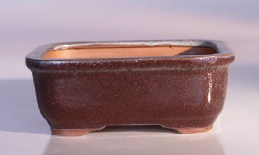 "Ceramic Bonsai Pot - Rectangle 6.5"" x 5.25"" x 2.0"""