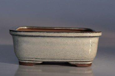 Image: Ceramic Bonsai Pot - Rectangle 6.5x5.25x2.0
