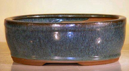 Ceramic Bonsai Pot - Oval 7.75x6.5x2.75