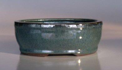 """Ceramic Bonsai Pot - Oval 7.5""""x6.25""""x3.0"""""""