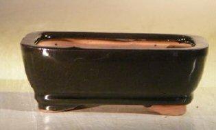 """Ceramic Bonsai Pot - Oval 6.125"""" x 5.0"""" x 2.125"""""""