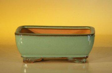 "Ceramic Bonsai Pot - Rectangle 6.125"" x 5.0"" x 2.125"""