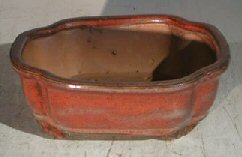 "Ceramic Bonsai Pot - Rectangle 6.125"" x 5.0"" x 2.125"""