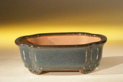 Image: Ceramic Bonsai Pot - Rectangle 6.125 x 5.0 x 2.125