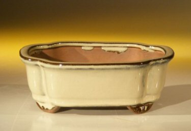 Image: Ceramic Bonsai Pot - Rectangle 6.125 x 5.0 x 2.125