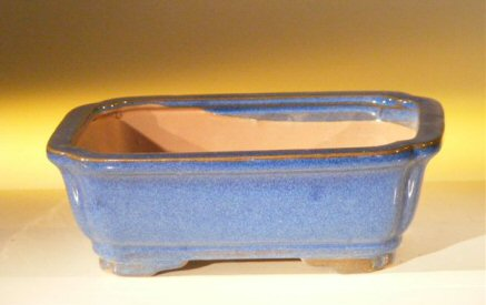 Image: Ceramic Bonsai Pot - Rectangle 7.0 x 5.5 x 2.4