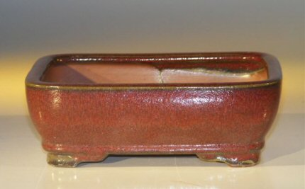 "Ceramic Bonsai Pot - Rectangle 7.0"" x 5.5"" x 2.375"""