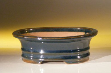 Image: Ceramic Bonsai Pot - Oval 7.0 x 5.5 x 2.375