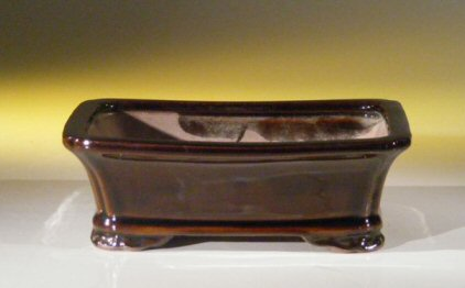 "Ceramic Bonsai Pot - Rectangle 8.0"" x 6.25"" x 2.5"""