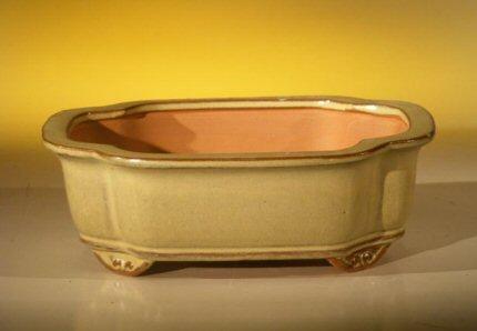 Image: Ceramic Bonsai Pot - Oval 8.0 x 6.25 x 2.5