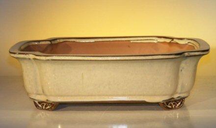 Beige Ceramic Bonsai Pot - Rectangle<br><i>12.0 x 9.5 x 3.375</i>