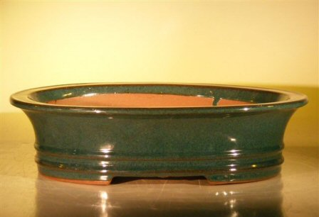 "Ceramic Bonsai Pot - Oval 14.0""x11.5""x4.0"""