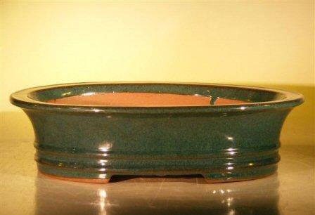 Image: Ceramic Bonsai Pot - Oval 14.0x11.5x4.0