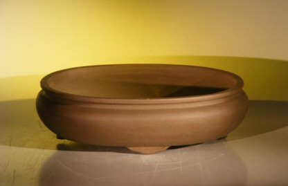 "Oval Ceramic Bonsai Pot<br>14.125""x11.0""x4.0"""