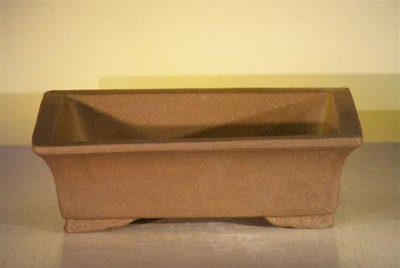 Tan Unglazed Ceramic Bonsai Pot - Rectangle12 x 9.625 x 3.5 Image
