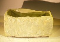 Rectangle Stone Pot 9.75 x 4.75 x 4.50