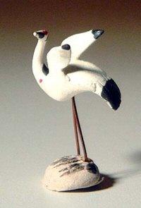 Image: Ceramic Crane Figurine (small) - 1
