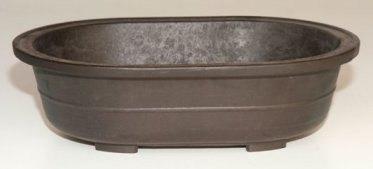 Brown Mica Bonsai Pot - Oval11.5 x 8.0 x 3.5 OD10.0 x 6.75 x 2.75 ID Image