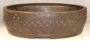 Brown Mica Bonsai Pot - Round 14 x 3.75 OD13.0 x 3.0 ID Image