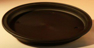 Image: 12 Round - Heavy Duty Plastic Round Humidity/Drip Bonsai Tray 12x1.0