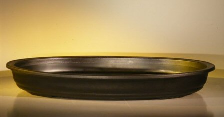 "Humidity/Drip Bonsai Tray/Bonsai Pot (Oval Black) 17.""x12.0""x2.0"""
