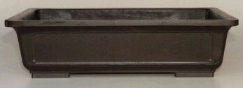Brown Mica Bonsai Pot - Rectangle<br><i>12.25 x 8.75 x 4.0 OD<br>11.0 x 7.5 x 3.25 ID</i>