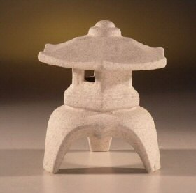 Image: Ceramic Pagoda Lantern 5 .0x5.0x5.25