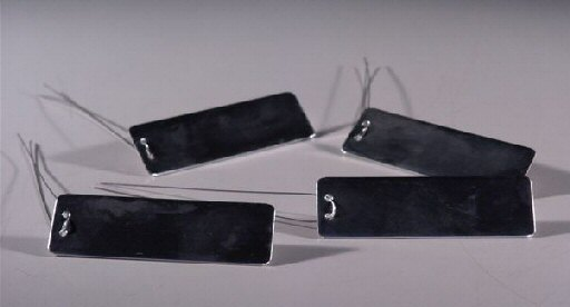 Image: Metal Impression Tags Package of 4