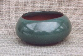 "Green Round Ceramic Bonsai Pot 4.75"" x 2.25"""