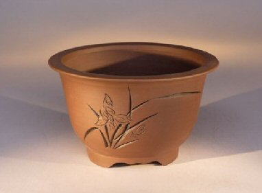 Ceramic Bonsai Pot Unglazed Round Bonsai Pot
