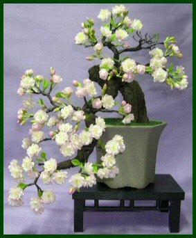 Artificial Cherry Blossom Bonsai Tree Cascade Style