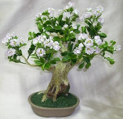 Artificial Flowering Ligustrum Bonsai Tree
