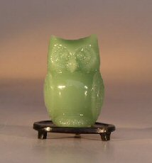 Glass Owl Figurine e1985