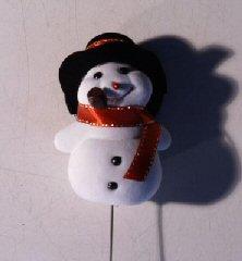 Trim a Tree Holiday Snowman Pick