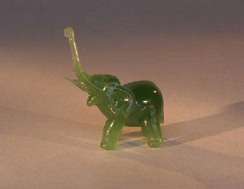Glass Elephant  Figurine - 3.25x1.5x3.0