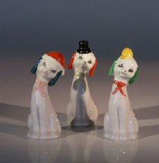 Image: Ceramic Dog Figurines  Set of Three