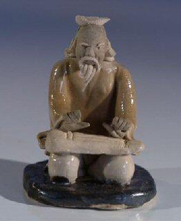 Male Musician Ceramic Figurine