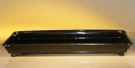 Image: Humidity/Drip Bonsai Tray - Heavy Duty Black Plastic 16.5 x 11.0 x 1.5