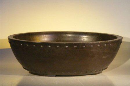 Mica Bonsai Pot Round Drum Style