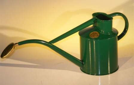 Green Metal Watering Can - 2 Pints Watering Cans, Watering, Water Cans, Watering Can, Water Can, Garden Watering, Greenhouse Watering